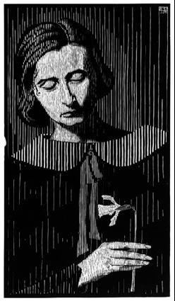 LW101-MC-Escher-Portrait-of-Jetta-1925